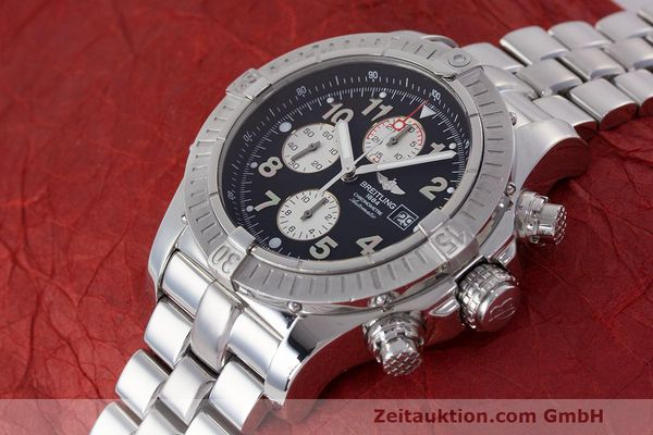 Used luxury watch Breitling Avenger chronograph steel automatic Kal. B13 ETA 7750 Ref. A13370  | 162738 02
