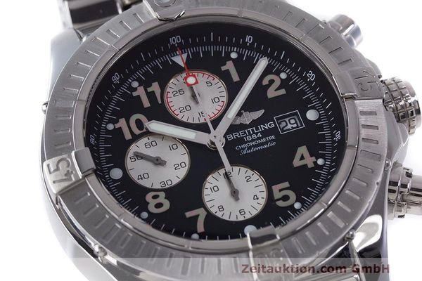 Used luxury watch Breitling Avenger chronograph steel automatic Kal. B13 ETA 7750 Ref. A13370  | 162738 03