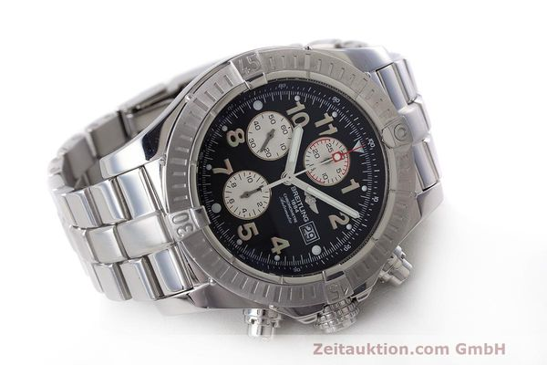 Used luxury watch Breitling Avenger chronograph steel automatic Kal. B13 ETA 7750 Ref. A13370  | 162738 04