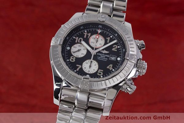 Used luxury watch Breitling Avenger chronograph steel automatic Kal. B13 ETA 7750 Ref. A13370  | 162738 05