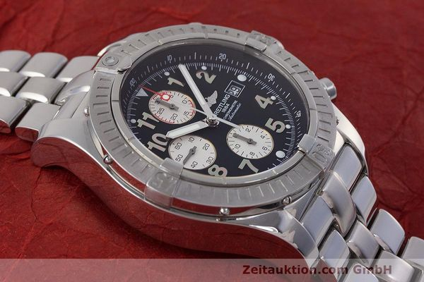 Used luxury watch Breitling Avenger chronograph steel automatic Kal. B13 ETA 7750 Ref. A13370  | 162738 17