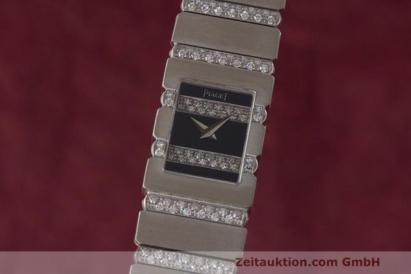 PIAGET POLO 18 CT WHITE GOLD QUARTZ KAL. 601 LP: 61000EUR [162746]
