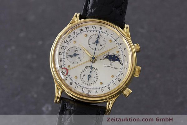 CHRONOSWISS A. ROCHAT CHRONOGRAPH GOLD-PLATED AUTOMATIC KAL. ETA 7750  [162756]
