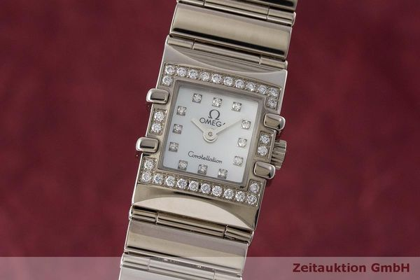 OMEGA LADY 18K (0,750) WEISSGOLD CONSTELLATION DIAMANTEN DAMENUHR VP: 12100,- Euro [162786]