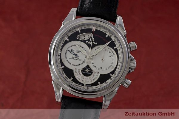 OMEGA DE VILLE CO-AXIAL CHRONOSCOPE CHRONOGRAPH HERRENUHR GLASBODEN NP: 6800,- Euro [162809]