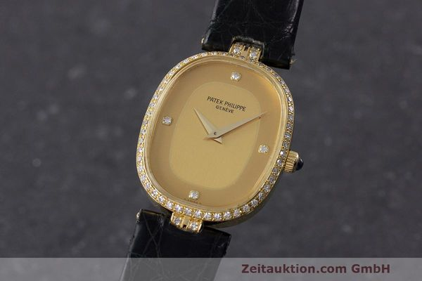 PATEK PHILIPPE LADY 18K GOLD ELLIPSE HANDAUFZUG DAMENUHR DIAMANTEN VP: 24790,- Euro [162810]