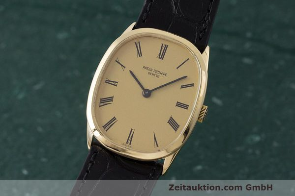 PATEK PHILIPPE 18K GOLD ELLIPSE D´OR HANDAUFZUG 3546 MEDIUM VP: 19930,- EURO [162811]