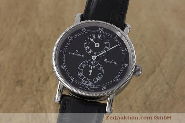 CHRONOSWISS REGULATEUR EDELSTAHL AUTOMATIK CH1223 GLASBODEN VP: 5200,- EURO [162882]