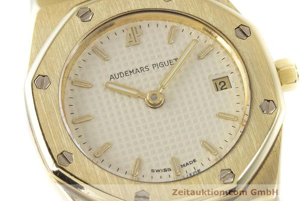 gebrauchte Luxusuhr Audemars Piguet Royal Oak 18k Gold Quarz Ref. C87103  | 162926 02