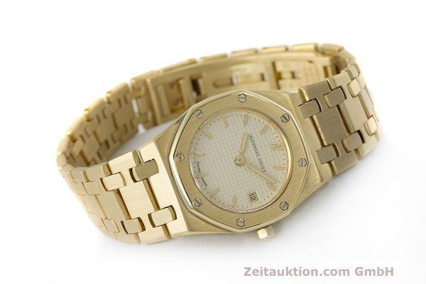 gebrauchte Luxusuhr Audemars Piguet Royal Oak 18k Gold Quarz Ref. C87103  | 162926 03
