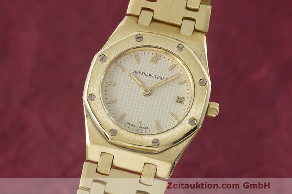 gebrauchte Luxusuhr Audemars Piguet Royal Oak 18k Gold Quarz Ref. C87103  | 162926 04