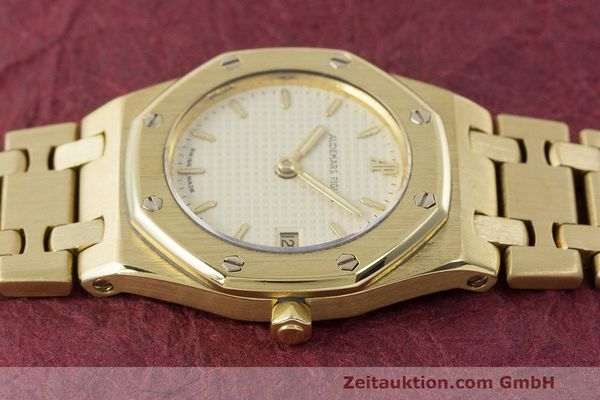 gebrauchte Luxusuhr Audemars Piguet Royal Oak 18k Gold Quarz Ref. C87103  | 162926 05