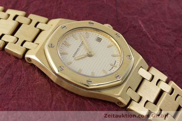 gebrauchte Luxusuhr Audemars Piguet Royal Oak 18k Gold Quarz Ref. C87103  | 162926 14