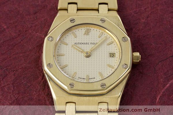 gebrauchte Luxusuhr Audemars Piguet Royal Oak 18k Gold Quarz Ref. C87103  | 162926 15