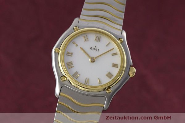 EBEL CLASSIC WAVE STEEL / GOLD QUARTZ KAL. 690 [162958]