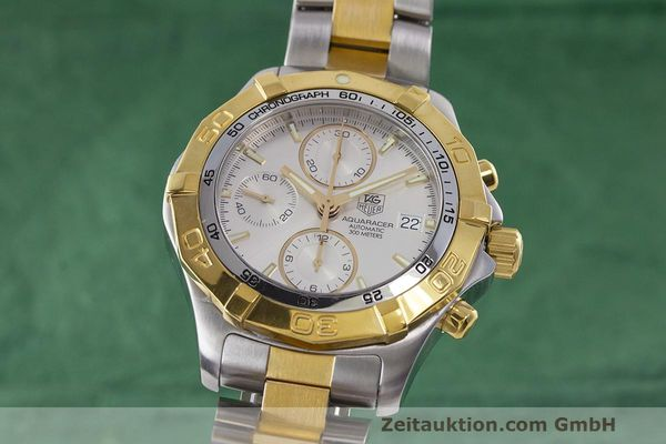 TAG HEUER AQUARACER CHRONOGRAPH STEEL / GOLD AUTOMATIC KAL. 16 ETA 7750 LP: 3550EUR [162966]