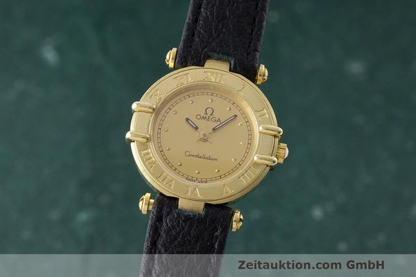 OMEGA CONSTELLATION 18 CT GOLD QUARTZ KAL. 1455 ETA 976001 LP: 0EUR [162973]
