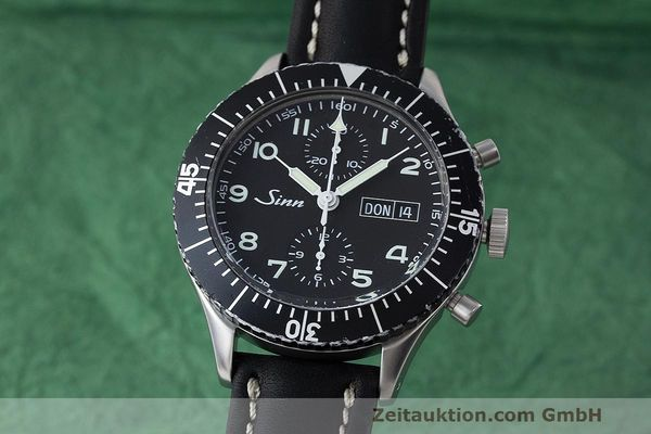 SINN 155 DAY-DATE MILITARY CHRONOGRAPH HERRENUHR 155.343 EDELSTAHL  [163038]