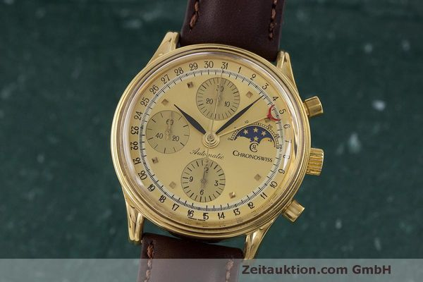 CHRONOSWISS A. ROCHAT CHRONOGRAPH GOLD-PLATED AUTOMATIC KAL. ETA 7750  [163052]