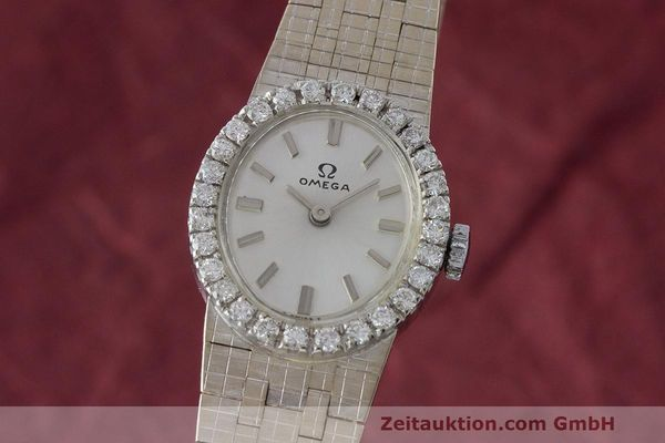 OMEGA 18 CT WHITE GOLD MANUAL WINDING KAL. 485 LP: 14300EUR [163058]