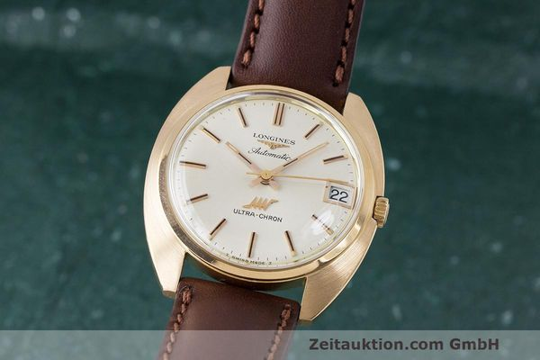 LONGINES ULTRA-CHRON 18K GOLD AUTOMATIK HERRENUHR REF. 8072-1 VP: 4200,- EURO [163088]