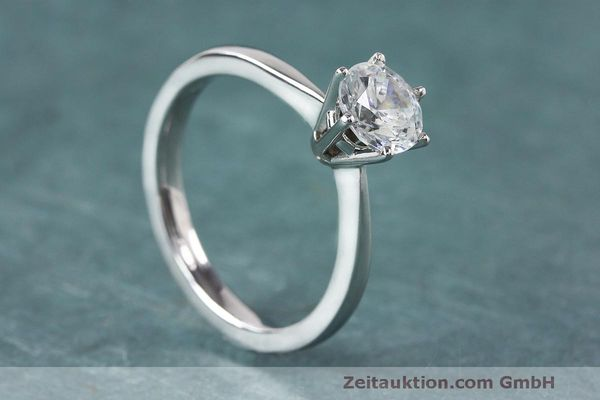 RING 950 PLATIN DIAMANT BRILLANT 0,93 CT DAMENRING DIAMOND WERT: 8482,- EURO [163121]