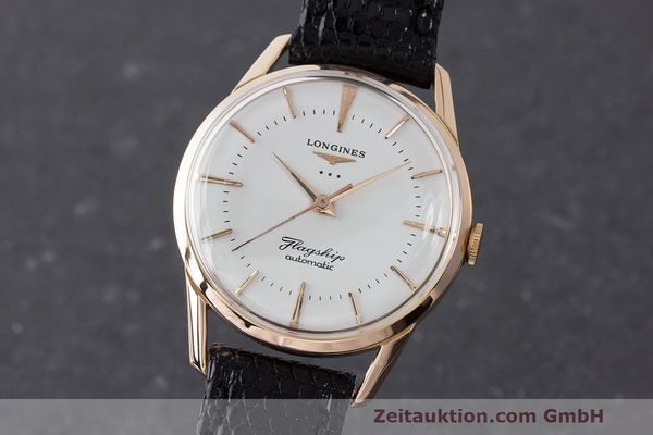 LONGINES FLAGSHIP OR ROUGE 18 CT AUTOMATIQUE KAL. 380 LP: 6040EUR VINTAGE [163139]