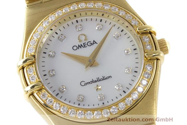 gebrauchte Luxusuhr Omega Constellation 18k Gold Quarz Kal. 1456 Ref. 11777500  | 163175 02