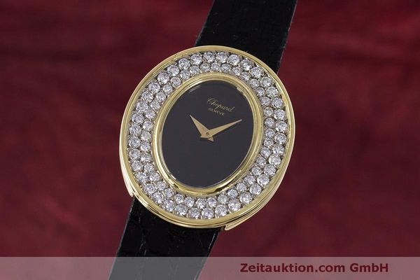 CHOPARD LADY 18K (0,750) GELB GOLD DAMENUHR DIAMANTEN HANDAUFZUG VP: 23620,- Euro [163208]