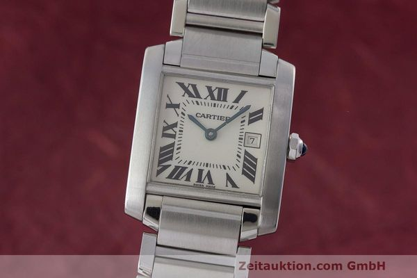 CARTIER LADY MUST DE TANK FRANCAISE STAHL MEDIUM KARRÉE VP: 3810,- EURO [163296]