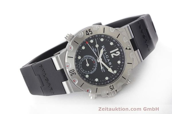 detailed pictures 38428 64c0f Bvlgari Diagono steel automatic Kal. TEEE Ref. SD38S GMT ...