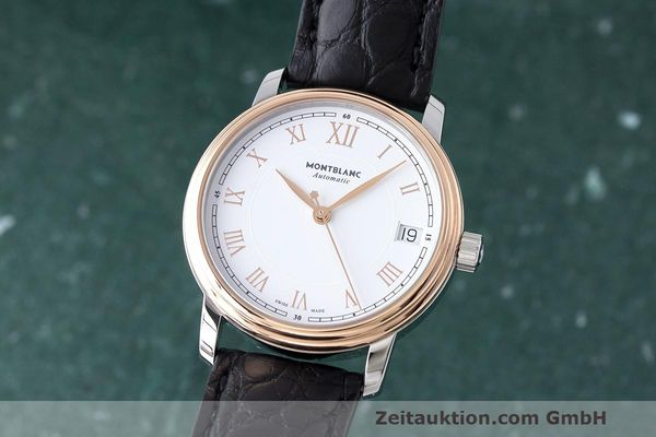 MONTBLANC TRADITION DATE STEEL / GOLD AUTOMATIC KAL. SELLITA SW200-1 LP: 2390EUR [163340]