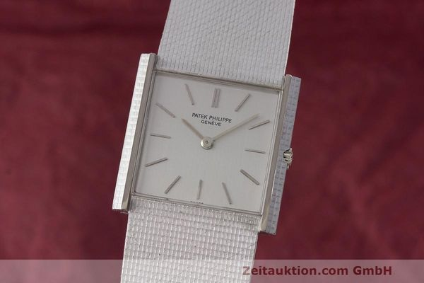 PATEK PHILIPPE 18K WEISS GOLD HERRENUHR MEDIUM HANDAUFZUG 3494 VP: 36729,- EURO [163376]