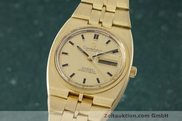 OMEGA 18K (0,750) GOLD CONSTELLATION AUTOMATIK HERRENUHR 168.045 VP: 30500,- Euro [163383]