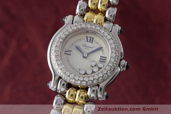 CHOPARD LADY HAPPY SPORT DIAMANTEN DAMENUHR GOLD / STAHL 8294-23 VP: 17050,- Euro [163404]
