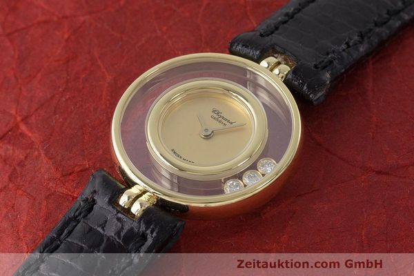 gebrauchte Luxusuhr Chopard Happy Diamonds 18k Gold Quarz Kal. ETA 201.001 Ref. 4112  | 163416 01