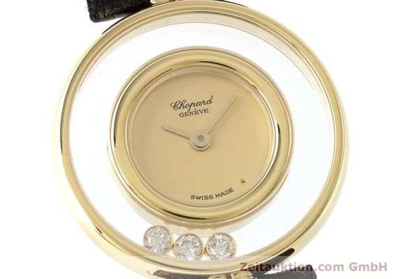 gebrauchte Luxusuhr Chopard Happy Diamonds 18k Gold Quarz Kal. ETA 201.001 Ref. 4112  | 163416 02