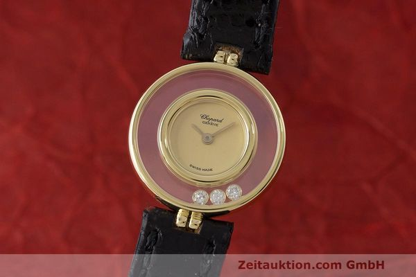 gebrauchte Luxusuhr Chopard Happy Diamonds 18k Gold Quarz Kal. ETA 201.001 Ref. 4112  | 163416 04
