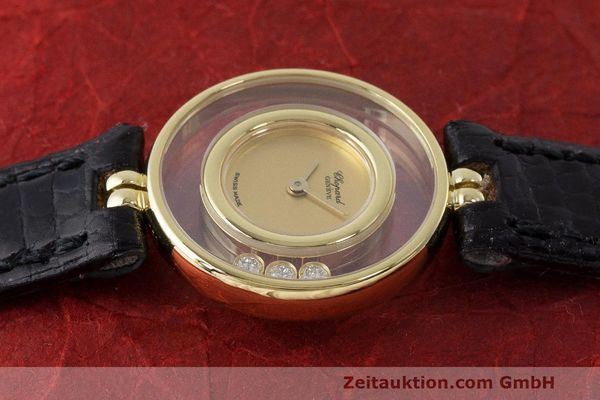 gebrauchte Luxusuhr Chopard Happy Diamonds 18k Gold Quarz Kal. ETA 201.001 Ref. 4112  | 163416 05