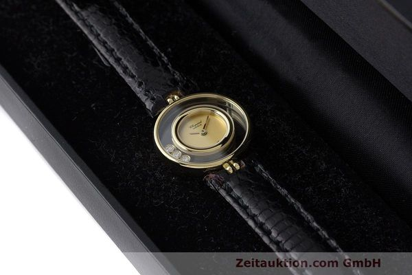 gebrauchte Luxusuhr Chopard Happy Diamonds 18k Gold Quarz Kal. ETA 201.001 Ref. 4112  | 163416 07