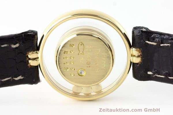 gebrauchte Luxusuhr Chopard Happy Diamonds 18k Gold Quarz Kal. ETA 201.001 Ref. 4112  | 163416 09
