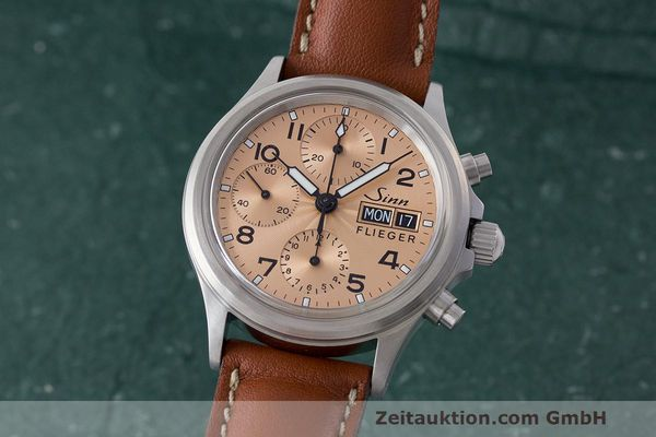 SINN 356 CHRONOGRAPH STEEL AUTOMATIC KAL. SELLITA LP: 1550EUR  [163432]