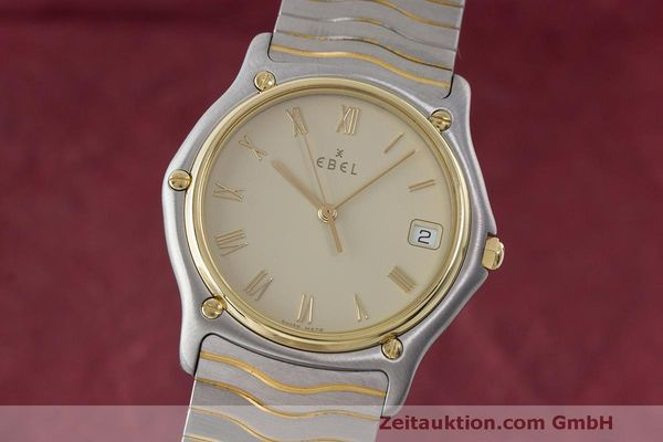 EBEL CLASSIC WAVE HERRENUHR GOLD / STAHL CLASSICWAVE MEDIUM VP: 2470,- EURO [163491]