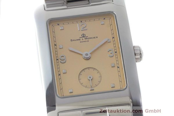 二手奢侈品腕表 Baume & Mercier Hampton 钢质 石英机芯 Kal. BM10163 ETA 980.163 Ref. MV045063  | 163504 02