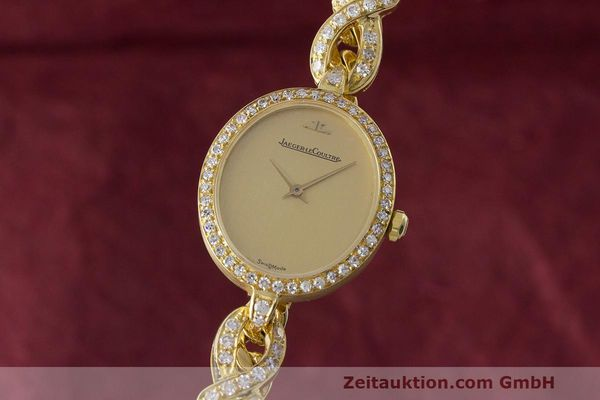 JAEGER LECOULTRE LADY 18K (0,750) GOLD DAMENUHR DIAMANTEN 100124 VP: 16600,- Euro [163505]
