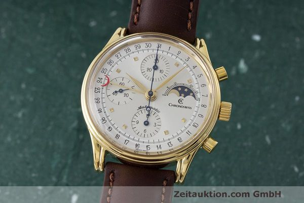 CHRONOSWISS A. ROCHAT CHRONOGRAPH GOLD-PLATED AUTOMATIC KAL. ETA 7750  [163519]