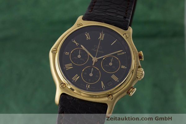 EBEL 1911 CHRONOGRAPH 18 CT GOLD AUTOMATIC KAL. 134 [163544]