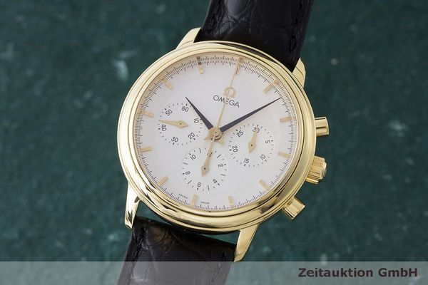 OMEGA DE VILLE CHRONOGRAPH 18 CT GOLD MANUAL WINDING KAL. 861 LP: 14500EUR  [163581]