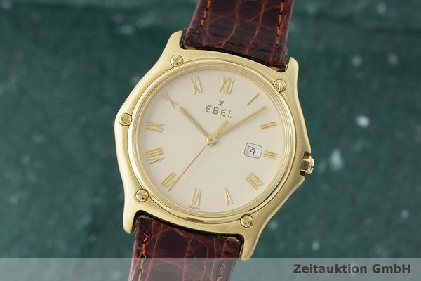 EBEL CLASSIC WAVE 18 CT GOLD QUARTZ KAL. 83 LP: 8650EUR  [170044]