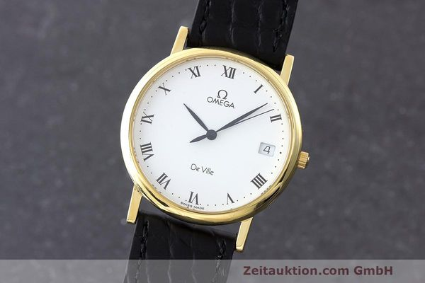 OMEGA DE VILLE 18 CT GOLD QUARTZ KAL. 1532 LP: 7340EUR [170079]